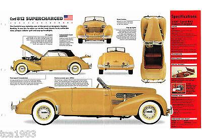 Intelligent 1937 Kordel 812 Supercharged Spezial Folie/broschüre/katalog '37 Year-End Bargain Sale