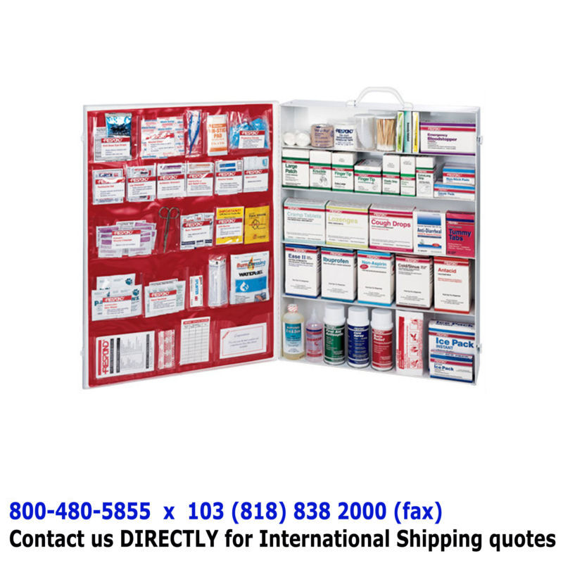 5-Shelf FULL FIRST AID CABINET - Emergency Supply Kit Deluxe First Aid Station
