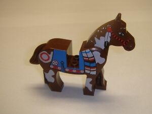 Lego-Brown-Indian-Horse-minifigure-animal-cowboy-western-new-6748-6746-6748