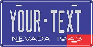 Nevada 1943 License Plate Personalized Custom Auto Bike Motorcycle Moped key tag