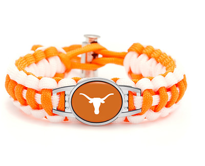 HPS Texas Longhorns Paracord Bracelet