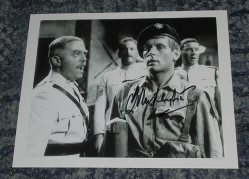 JOHN LEYTON with Richard Attenborough 10x8 PHOTO SIGNED GUNS AT BATASI