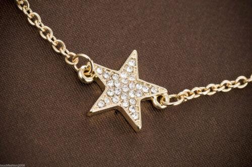 18K Gold Plated Golden Pave Crystal Star Chain Bracelet Timeless