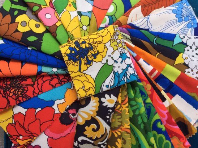 "Vintage Cotton Fabric 1950's 25 Pieces 9""x10"" Riverdale Assoc American Artists C"