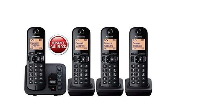 Panasonic Cordless Digital Phones X4 Answer Phone Nuisance Call Blocker LCD NEW