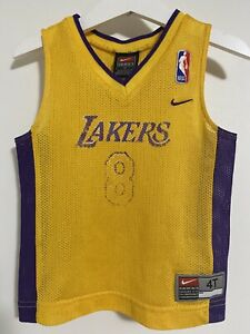 Details about Kobe Bryant Los Angeles Lakers Toddler Jersey size 4T Nike Yellow Toddler RARE