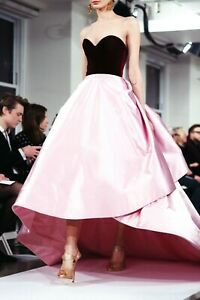 Oscar-de-la-Renta-Bicolor-ASO-Long-Dress-Evening-Runway-Ball-Gown-IT-42-US-6