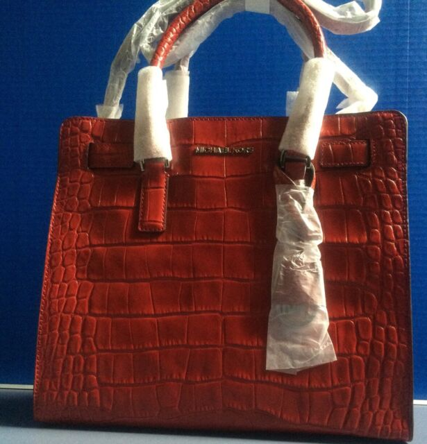 599c01d9fae4 NWT Michael Kors Dillon Leather Large North South Tote 30H4SAIT3E Dark Red