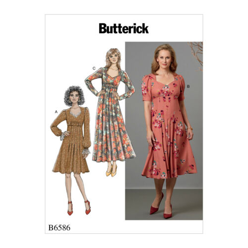 Butterick Sewing Pattern 6586 facile per rendere Stile Vintage close-RACCORDO Abiti