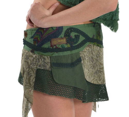 benzina marrone Festival Skirt acqua Mini verde Goa Viola Gekko Steampunk nero Pixie verde Elf YvRzq