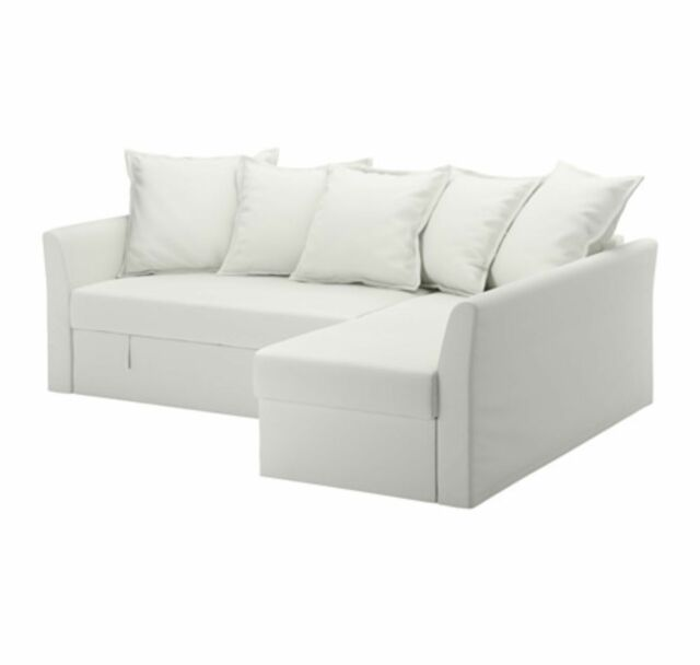 Bon U003eIkea Holmsund Corner Sofa Bed Cover (only)   Ransta White 403.017.