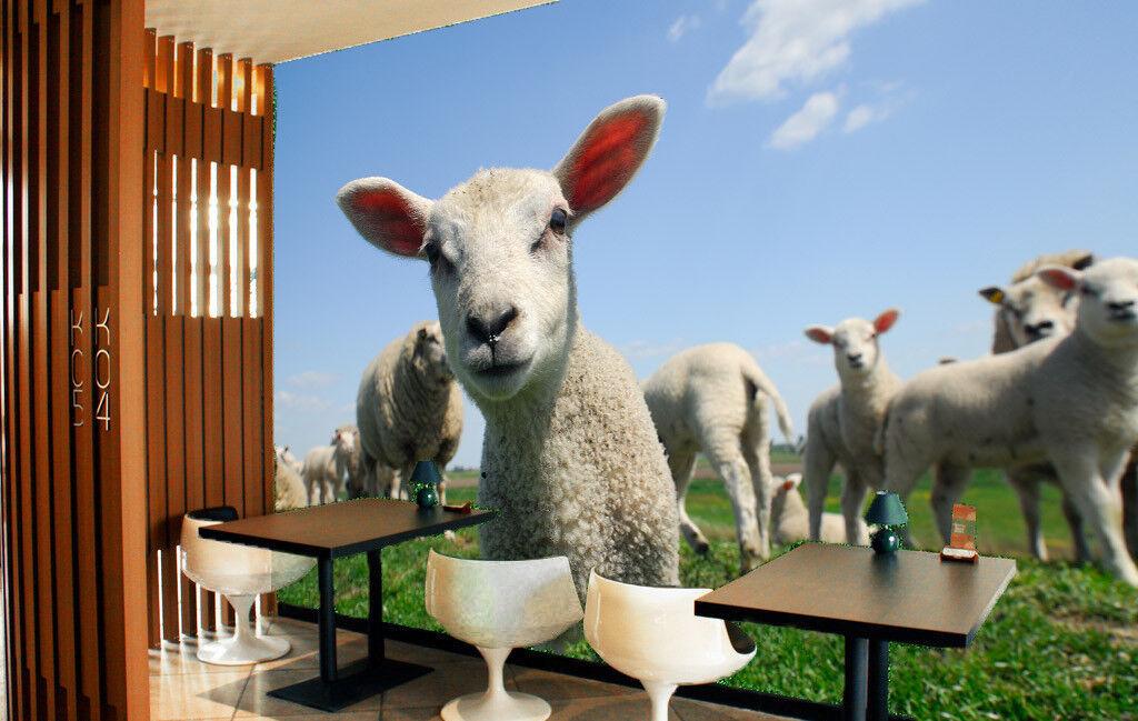 3D Super Cute Sheep 88 Wall Paper Murals Wall Print Wall Wallpaper Mural AU Kyra