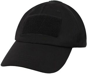Details about Black Military Low Profile Soft Shell Adjustable Tactical Hat  Operator Cap 9729