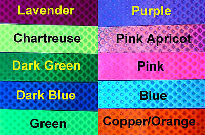 """10 Colors Laser WTP Lure Prism Tape 10/' of tape 1//2/"""" Wide Walleye Candy"""