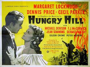 HUNGRY-HILL-1946-Margaret-Lockwood-Dennis-Price-Daphne-du-Maurier-UK-QUAD-POSTER