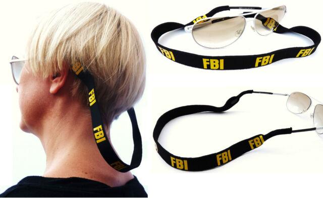 FBI Sunglasses Neoprene Spectacle Glasses Stretchy Holder Sport Band Strap Head