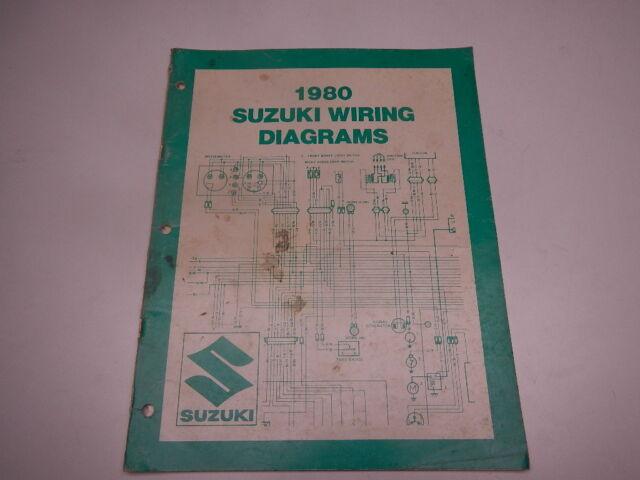 1980 Suzuki Wiring Diagrams Gs Gn Ts Sp Pe Jr Fz Gs1100