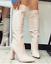 miniatura 3 - Scarpe Donna Stivali alti donna tacco alto stivali a punta altezza ginocchio Sti