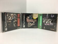 Resident Evil 1,2 And 3 (Sony PlayStation 1, 1996) LOT RARE PS1
