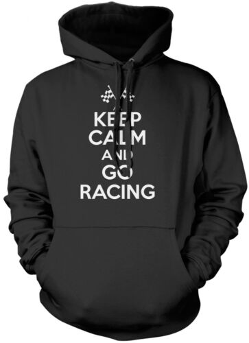 Keep Calm and Go Racing Car rally Motor Cycle Kids Unisex Hoodie