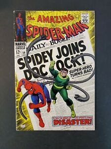 AMAZING-SPIDER-MAN-56-5-0-VG-FN-1ST-CAPTAIN-STACY-UNPRESSED-MARVEL-SILVER-COMIC