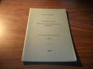 1919 BOSTON ELEVATED RAILWAY COMPANY TRUSTEES SECOND REPORT