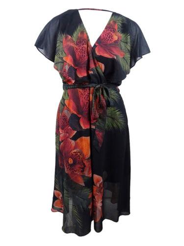 City Chic Women/'s Trendy Plus Size Floral-Print Midi Dress