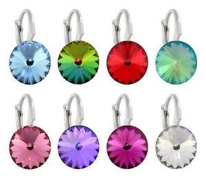 Sterling Silber Ohrstecker Ohrringe zum Rivoli 1122 Kristalle Alle Größen