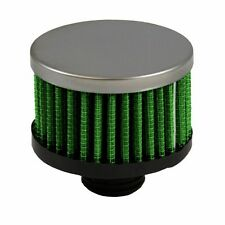 """Threaded Screw-In Crankcase Air Breather 1 1/4"""" OD 1 3/"""" H Green Filter USA 2081"""