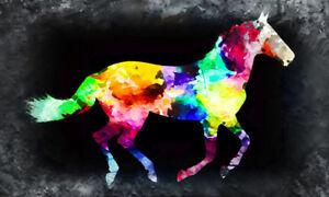 ZWBBO Dekorative Malerei /Ölgem/älde Leinwand Pferd Poster und Drucke Tier Wandbilder f/ür Wohnzimmer Wohnkultur Dekoration-50x60cm