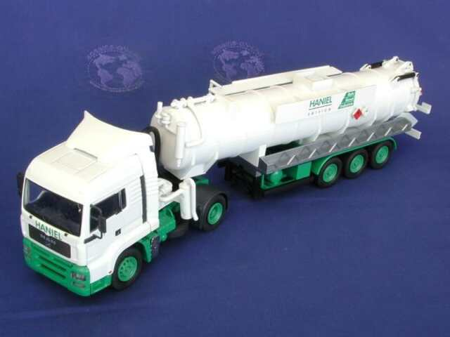 Conrad 6660-0 MAN TGL 37 Semi Vacuum Truck HANIEL Die-cast O Scale 1/50 MIB