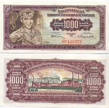 Jugoslawien / Yugoslavia - 1000 Dinara 1955 UNC - Pick 71b