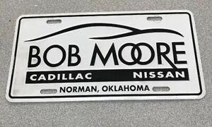Bob Moore Cadillac Norman >> Bob Moore Cadillac, Nissan, Norman, OK License Plate Insert   eBay
