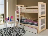 Bunk Bed With Mattress Js21 Children Furniture Storage Drawers Choice Of Colours