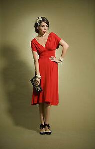 red-Michael-Pattison-MUNROE-KNIT-Dress-sz-12-NZ-made