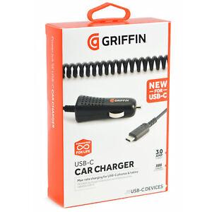 Original-Griffin-USB-Tipo-C-3am-P-Cargador-para-el-Auto-Samsung-Galaxy-Note-8