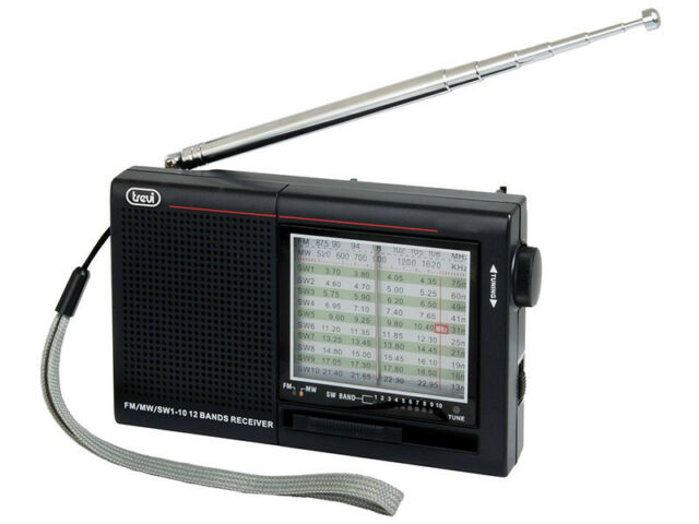 Compact SW - FM - MW World 12 Band Receiver • Portable Radio • Mains or Battery