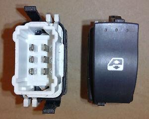 interrupteur commande bouton leve vitre clio 2 phase 2 et campus droit passager ebay. Black Bedroom Furniture Sets. Home Design Ideas