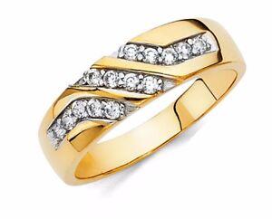 14k-Yellow-Gold-6-mm-Diamond-Mens-Round-Pave-Statement-Wedding-Band-Ring