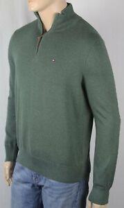 Tommy-Hilfiger-Green-1-2-Half-Zip-Mock-Turtleneck-Sweater-NWT-80