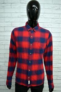Camicia-HOLLISTER-Uomo-Taglia-Size-S-Shirt-Maglia-Manica-Lunga-Cotone-A-Quadri