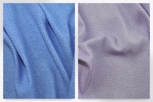 Herringbone Print Polyester Microfibre Dress Fabric EM-ChevronCDC2570-Lilac-M