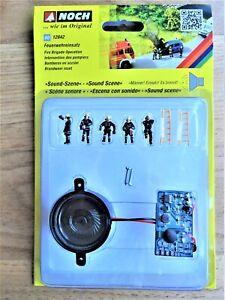NOCH-12842-Feuerwehreinsatz-H0-Figuren-und-Soundmodul-f-Modellbahn-Anlage-etc