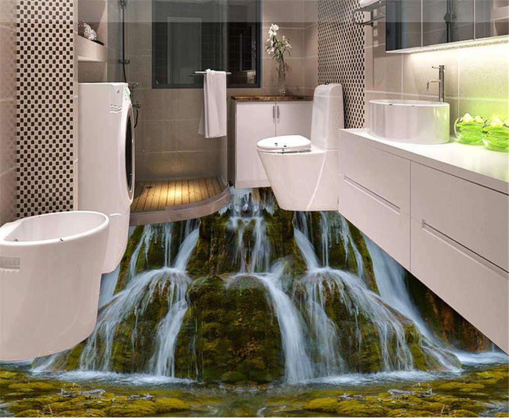 Rapid Cataract 3D Floor Mural Photo Flooring Wallpaper Home Printing Decoration
