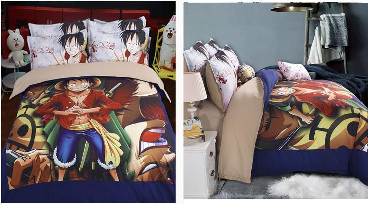 One Piece Luffy Anime Anime Anime Manga 3tlg.4tlg. Bettwäsche Bettwäschegarnitur Baumwolle | Auktion  4f6822