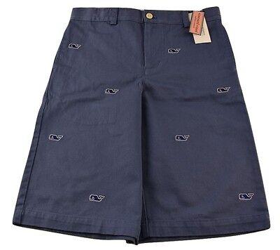 Vineyard Vines Kids Boys Cotton Summer Twill Club Shorts Starboard Green  $59.50