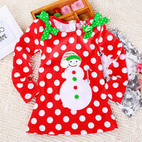 Kinder Weihnachtsanzug Baby Weihnachtskostüm Santa Strample Tutukleid Outfit Set
