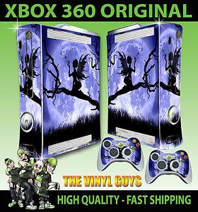 Fougueux Xbox 360 Clair De Lune Gothic Fée Silhouette Ailes Autocollant Peau & 2 Pad Jouir D'Une RéPutation éLevéE Chez Soi Et à L'éTranger