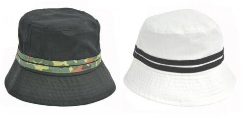 pescatore capp Lobbia CAPPELLO BERRETTO Tesa Hat Safari Cotone Nuovo Bucket ha LIMA//capp