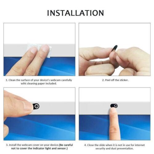 6PCS WebCam Shutter Privacy Slider Camera Cover for Macbook Laptop Phone Plastic